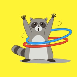 Friendly Raccoon Stickers