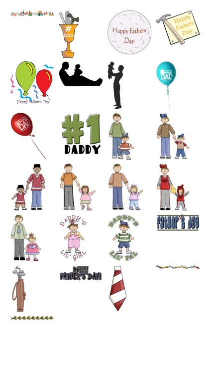 Father's Day Stickers #1-Illustrated and Photo Art screenshot-4