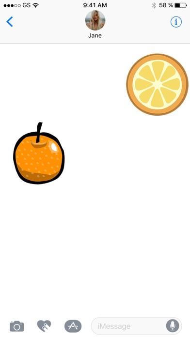 鮮橙貼紙包屏幕截圖3