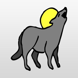 Coyote Stickers : Howl at the Moon
