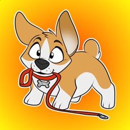 Corgi Puppy Stickers