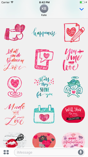 Valentines love greetings for imessage stickers on the app store m4hsunfo