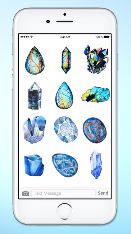 Healing Gems and Crystals Sticker Pack