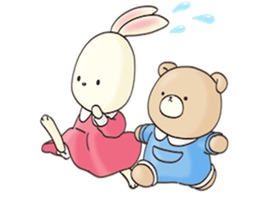 Bear And Rabbit Friends Animated Stickers