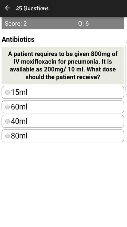 Fluid Dosages Quiz screenshot-3