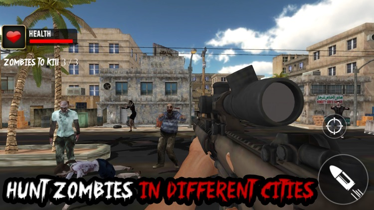 Real Zombie Sniper 3D Shooter : Contract Killer