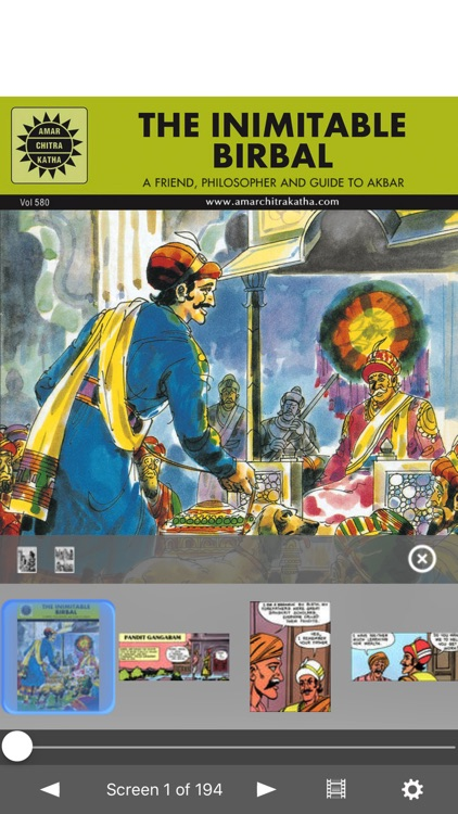 The Inimitable Birbal - Amar Chitra Katha Comics screenshot-0