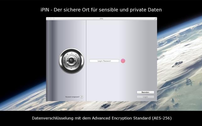ipin secure pin passwort safe im mac app store. Black Bedroom Furniture Sets. Home Design Ideas