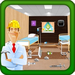 Hospital Repair- Cleaning & Wash Game