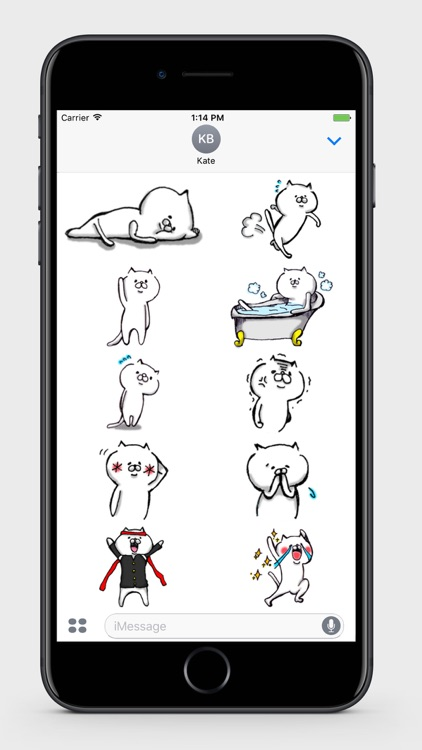 White Cat Stickers 1
