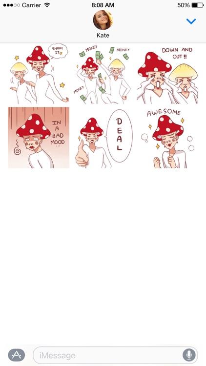Mushroom Bros stickers screenshot-4