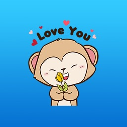 Winky The Naughty Monkey Animated Stickers