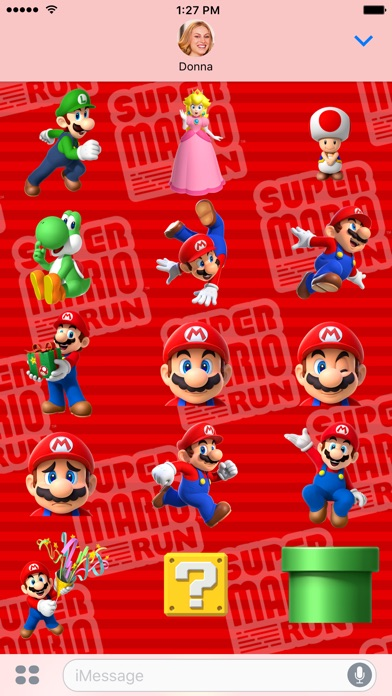 Super Mario Run Stickers Screenshot