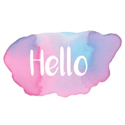 Hello - Watercolor Messages Stickers by Maraquela