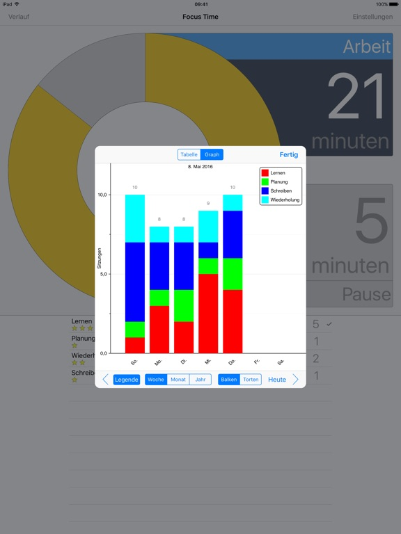 Screenshot #4 for Focus Time Activity Tracker
