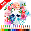 Sugar Skull Coloring Drawing For Coco Day of Dead