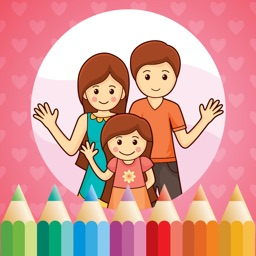 Family Coloring Book for Kids: Learn to color