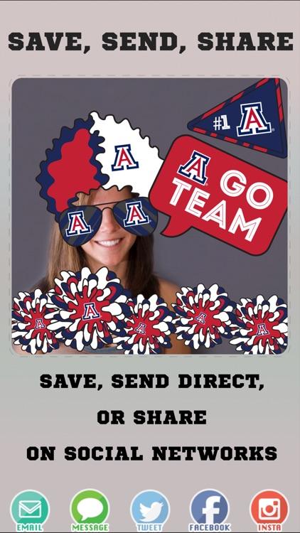 Arizona Wildcats Pro Photo Booth Stickers screenshot-3