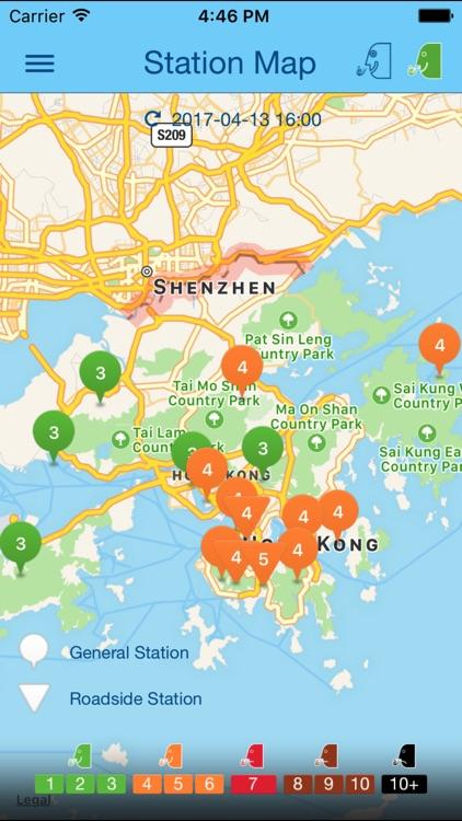 HK AQHI 香港空氣質素健康指數