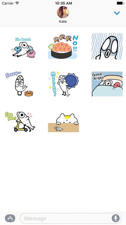 Cutie Fish Dance Animated Stickers