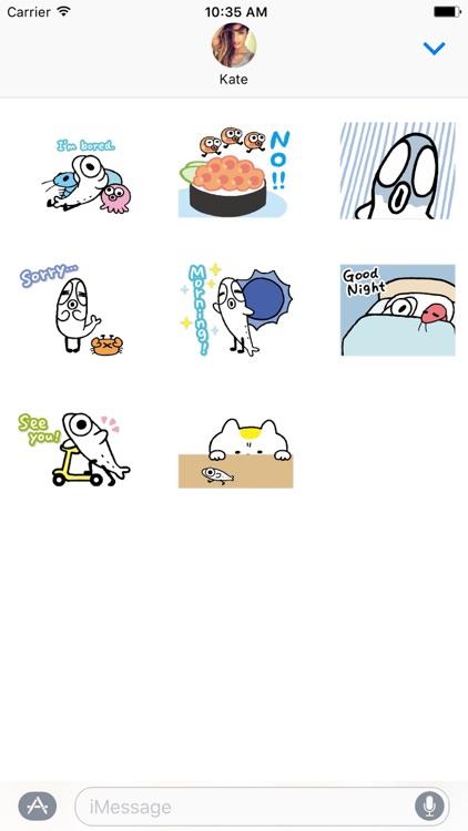Cutie Fish Dance Animated Stickers