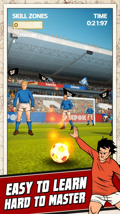 Flick Kick Football Kickoff screenshot-1