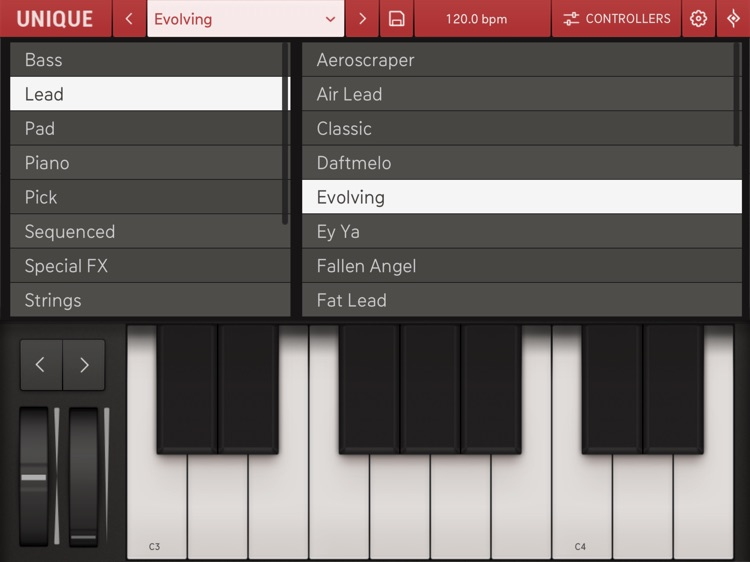 Unique for iPad - Analog Synth screenshot-4
