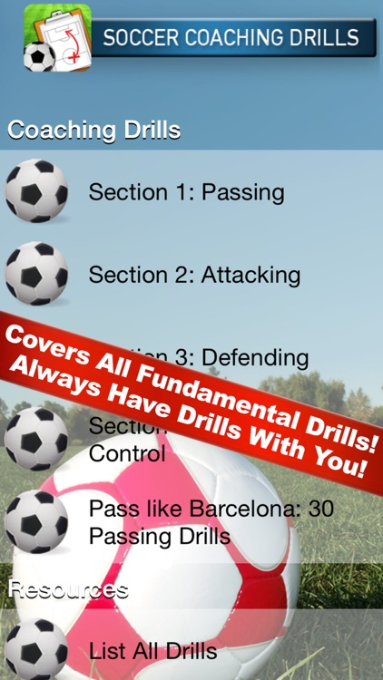 Soccer Coaching Drills screenshot-0