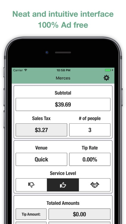 Merces - Tip and Tax Calculator