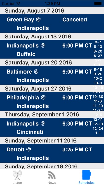 Indianapolis Football - Radio, Scores & Schedule screenshot-3