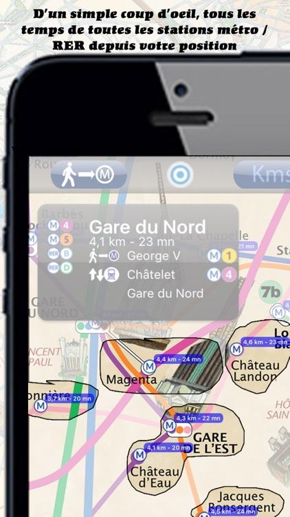Paris Metro painted map - Free version