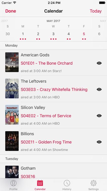 SERIST - TV Show Tracker screenshot-3