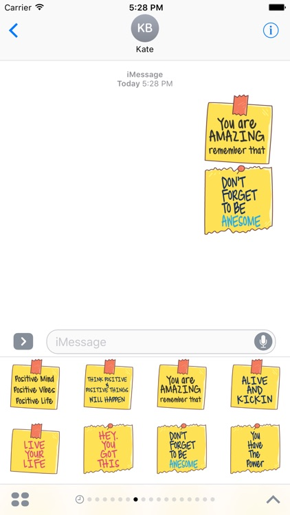 Positive Quotes Stickers - Motivational Notes