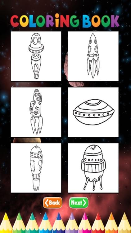Spaceships Coloring Book - Activities for Kid screenshot-3