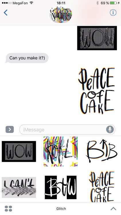 Glitch it! stickers for iMessage