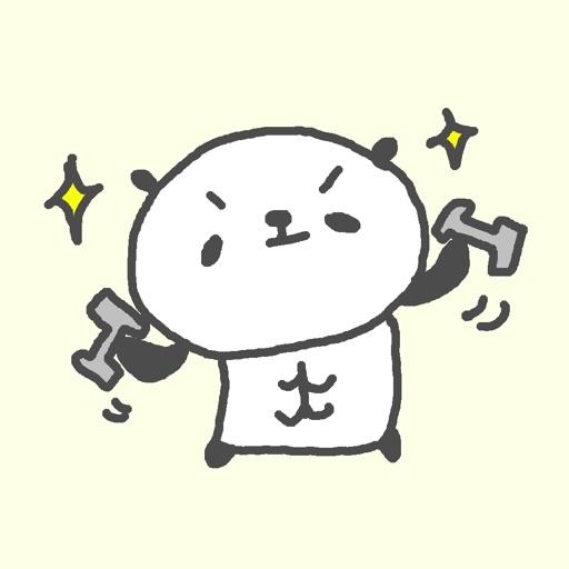 Athlete Panda Stickers!