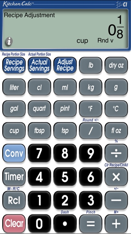 KitchenCalc Pro Culinary Math & Recipe Calculator screenshot-1