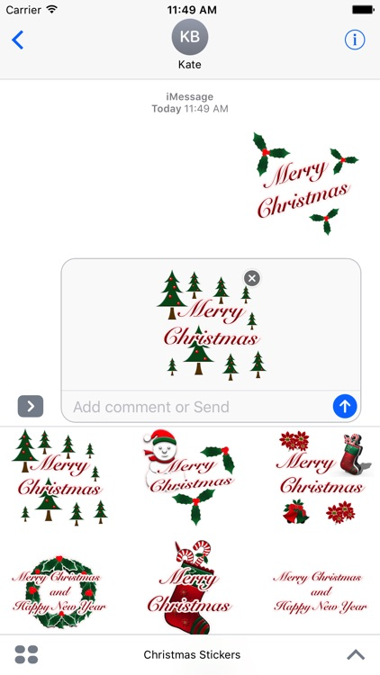 Happy Christmas Stickers