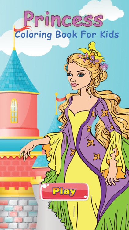 Pretty Princess Coloring Book Game for Kids