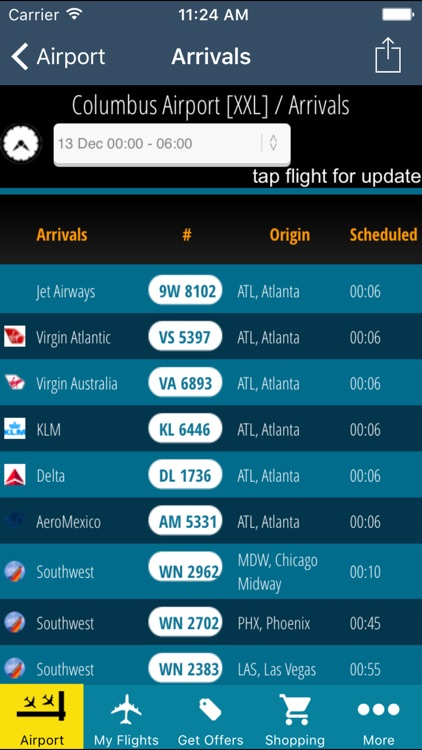 Columbus Airport (CMH) + Flight Tracker screenshot-1