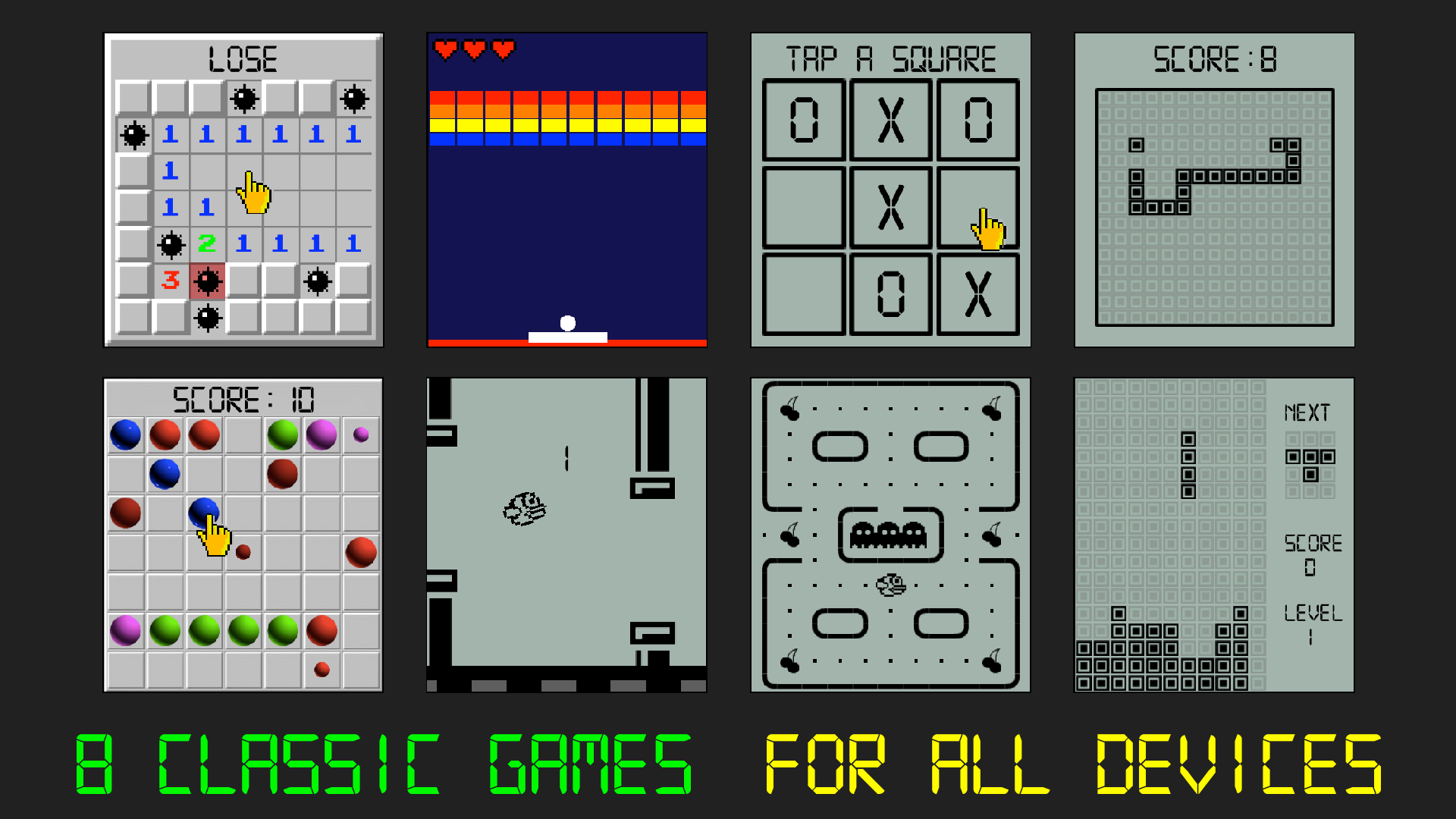 8 Classic Games: Watch & Phone screenshot 16
