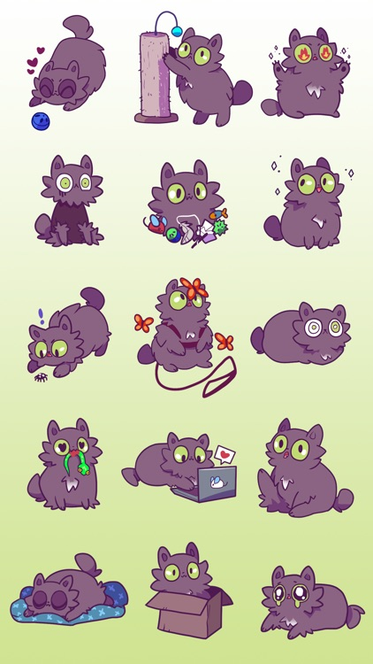 Echo the Cat Stickers