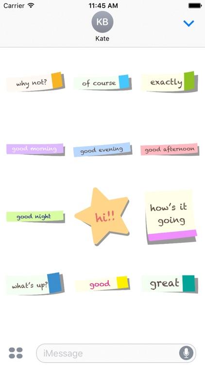 Choose a sticky note