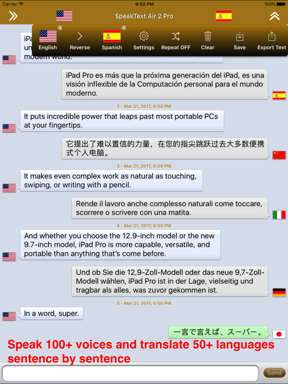 SpeakText Air 2 (Speak 100+ & Translate 50+) Screenshots