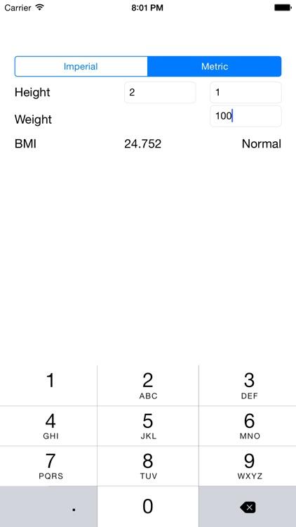 BMI Calculator - Simple Body Mass Index Calculator screenshot-3