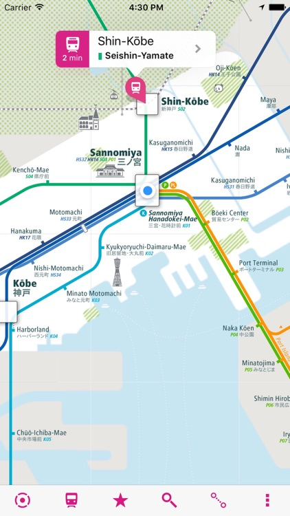 Kobe Rail Map
