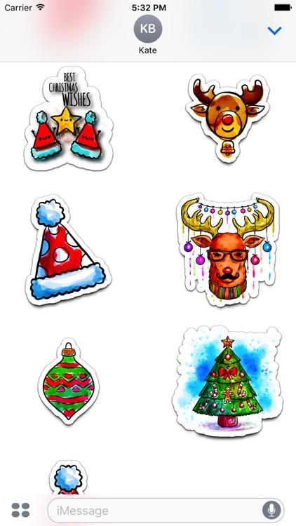 Watercolor Christmas Stickers Vol. 5 screenshot-4