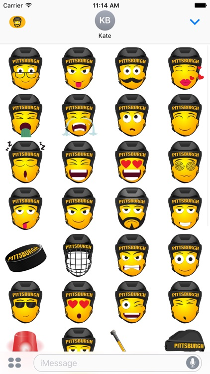 Pittsburgh Hockey Stickers & Emojis screenshot-3