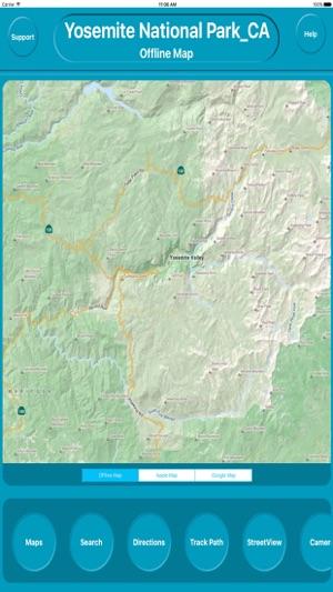 Yosemite National Park USA Offline Maps Navigation im App Store