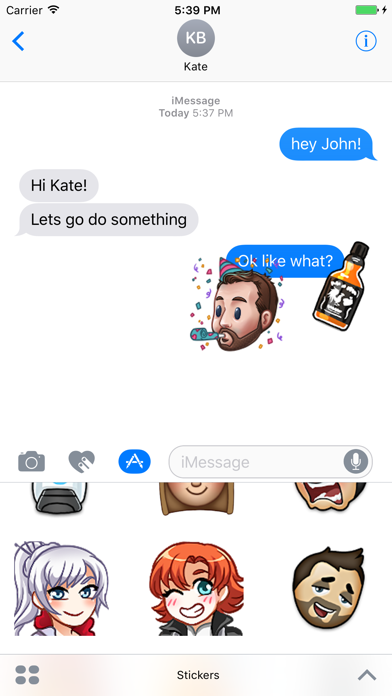Rooster Teeth Stickers by Rooster Teeth Productions (iOS